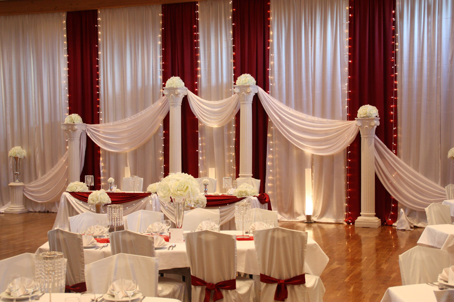 Hochzeitsdeko Bordeaux & Rot  Hochzeitsdeko Von Pader-Deko