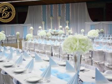 Hochzeitsdeko Pader-Deko Hochzeitsdekoration Klassisch Himmelblau