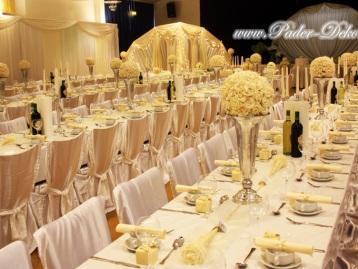 Hochzeitsdeko Pader-Deko Hochzeitsdekoration Klassisch Champagner