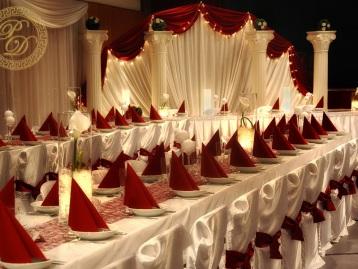 Hochzeitsdeko Pader-Deko Hochzeitsdekoration Klassisch Bordeaux