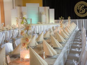 Hochzeitsdeko Pader-Deko Hochzeitsdekoration Modern Gold