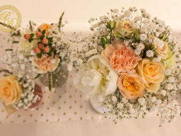 Hochzeitsdeko Pader-Deko Hochzeitsdekoration Shabby Chic Apricot Gold