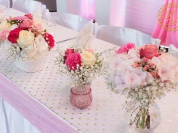 Hochzeitsdeko Pader-Deko Hochzeitsdekoration Shabby Chic Rosa Brombeer