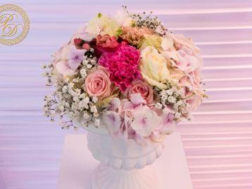 Hochzeitsdeko Pader-Deko Hochzeitsdekoration Shabby Chic Vintage Rosa Brombeer