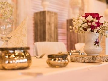 Hochzeitsdeko Pader-Deko Hochzeitsdekoration Vintage Apricot Holz