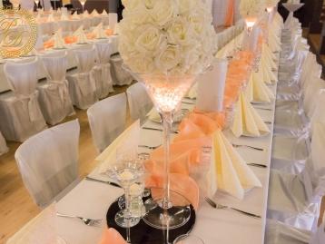 Hochzeitsdeko Pader-Deko Hochzeitsdekoration Martini Gläser Apricot