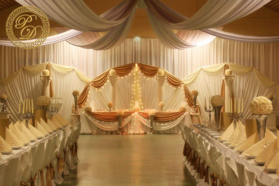 Hochzeitsdeko decke