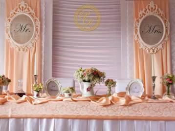 Hochzeitsdeko Pader-Deko - Apricot - 01
