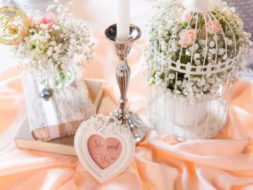 Hochzeitsdeko Pader-Deko - Apricot - 09