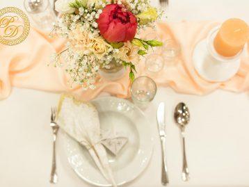 Hochzeitsdeko Pader-Deko - Apricot - 13