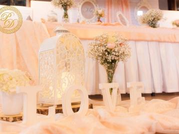 Hochzeitsdeko Pader-Deko - Apricot - 05
