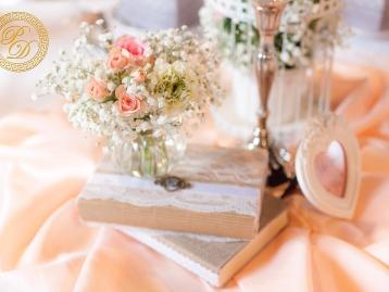 Hochzeitsdeko Pader-Deko - Apricot - 12