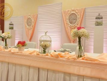 Hochzeitsdeko Pader-Deko - Apricot - 14