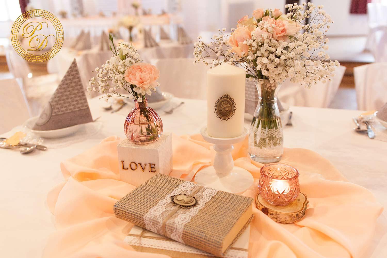 Hochzeitsdeko apricot hochzeitsdeko aus paderborn for Shabby look farbe