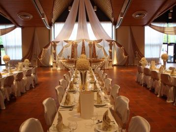 Hochzeitsdeko Pader-Deko - Champagner Gold - 06