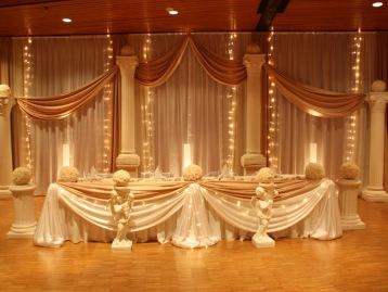 Hochzeitsdeko Pader-Deko - Champagner Gold - 07