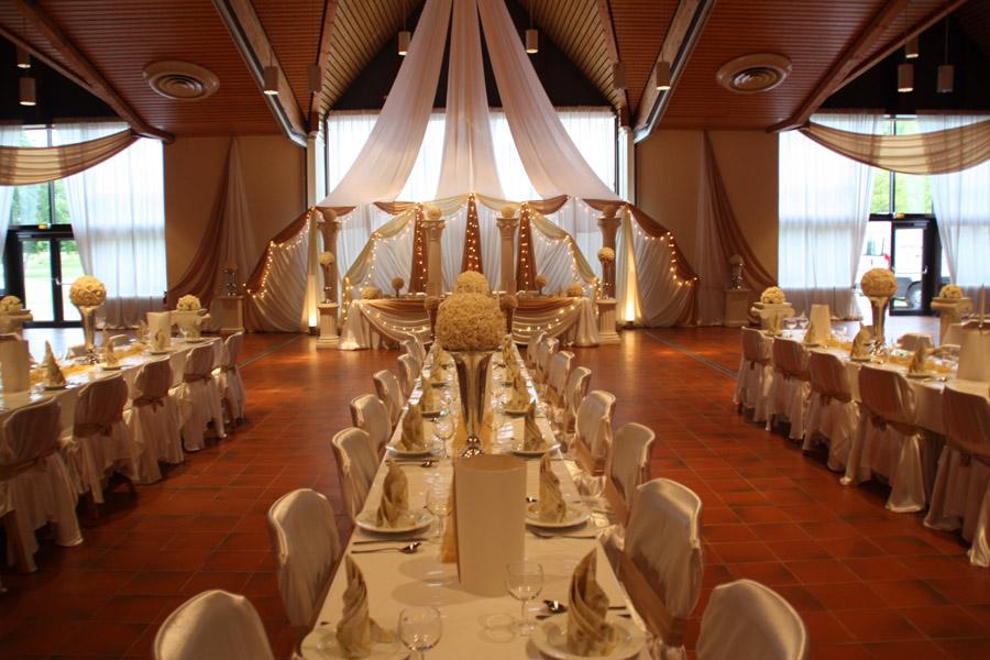 Hochzeitsdeko Champagner Gold