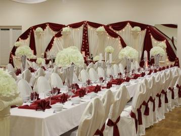 Hochzeitsdeko Pader-Deko - Bordeaux Rot - 02