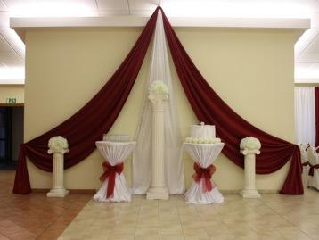 Hochzeitsdeko Pader-Deko - Bordeaux Rot - 05