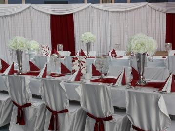 Hochzeitsdeko Pader-Deko - Bordeaux Rot - 09