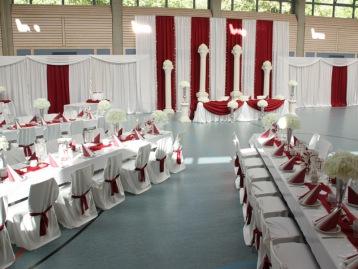 Hochzeitsdeko Pader-Deko - Bordeaux Rot - 10