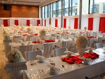 Hochzeitsdeko Pader-Deko - Bordeaux Rot - 14