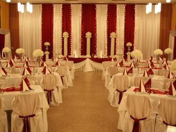 Hochzeitsdeko Pader-Deko - Bordeaux Rot - 15