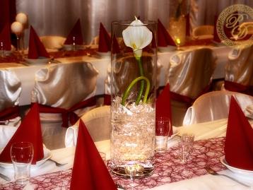 Hochzeitsdeko Pader-Deko - Bordeaux Rot - 17