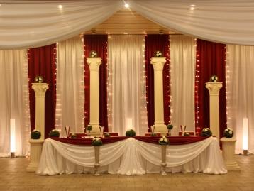Hochzeitsdeko Pader-Deko - Bordeaux Rot - 04