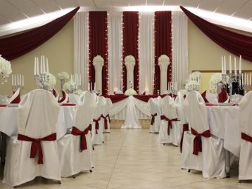 Hochzeitsdeko Pader-Deko - Bordeaux Rot - 06
