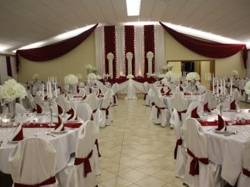 Hochzeitsdeko Pader-Deko - Bordeaux Rot - 07
