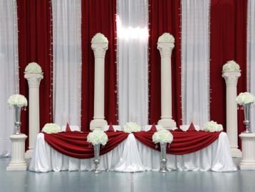 Hochzeitsdeko Pader-Deko - Bordeaux Rot - 08