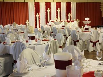 Hochzeitsdeko Pader-Deko - Bordeaux Rot - 11
