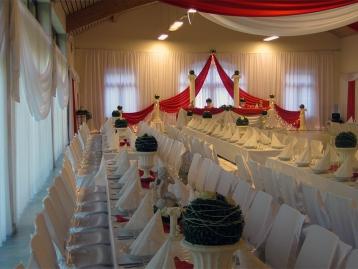 Hochzeitsdeko Pader-Deko - Bordeaux Rot - 12