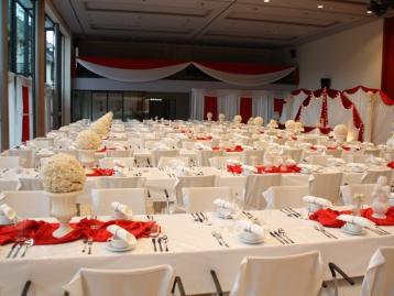 Hochzeitsdeko Pader-Deko - Bordeaux Rot - 13