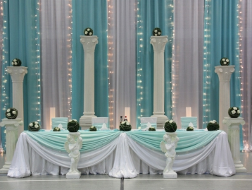 Hochzeitsdekoration Pader-Deko - Türkis - 09