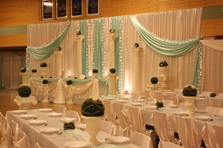 Hochzeitsdeko Türkis