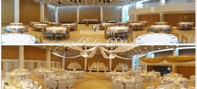 Hochzeitsdekoration Pader-Deko - Vorher-Nachher - 07
