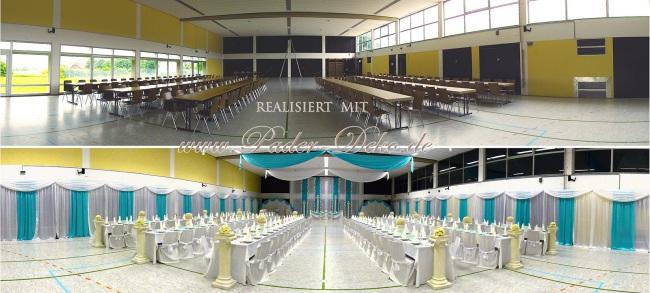 Hochzeitsdekoration Pader-Deko - Vorher-Nachher - 02