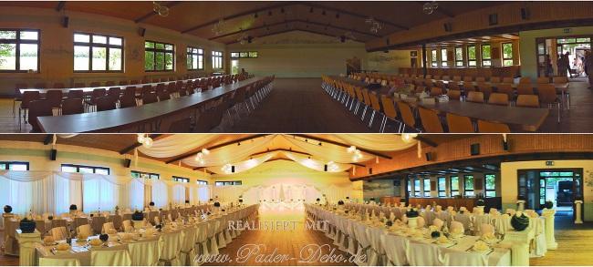 Hochzeitsdekoration Pader-Deko - Vorher-Nachher - 04