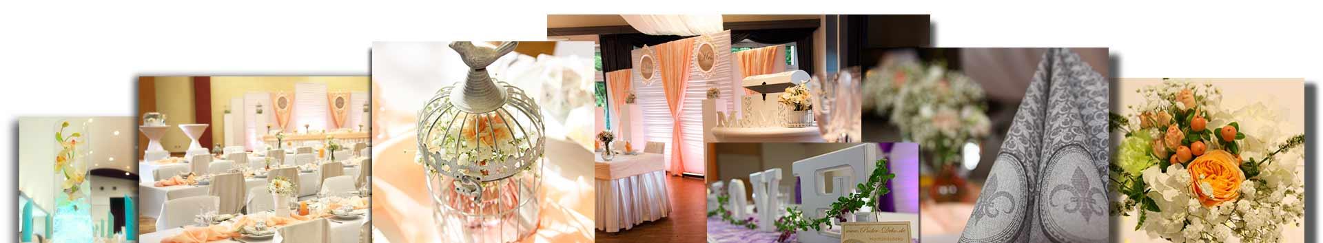 Collage Footer Hochzeitsdeko Pader-Deko Hochzeitsdekoration