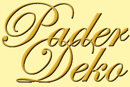 Hochzeitsdeko Pader-Deko- Text Logo