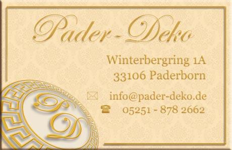 Visitenkarte Pader-Deko